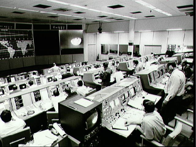 NASA archive photo of Apollo 8 Firing Room December 21, 1968
